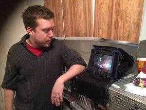 Ross Aitken - Kidnap Me - co-wri-dir Ross Aitken on set